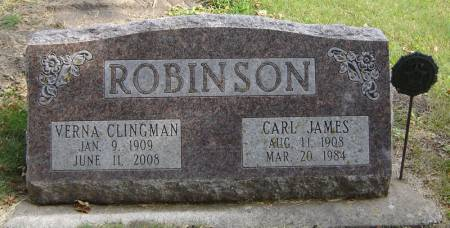 CLINGMAN ROBINSON, VERNA - Delaware County, Iowa   VERNA CLINGMAN ROBINSON