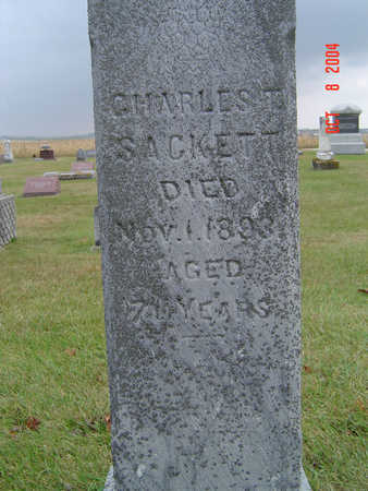 SACKETT, CHARLES T. - Delaware County, Iowa | CHARLES T. SACKETT
