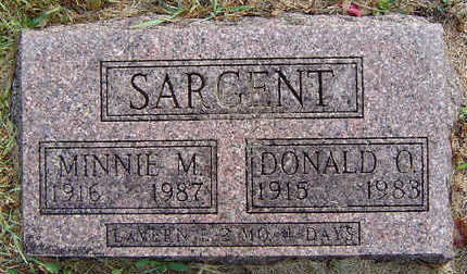 SARGENT, MINNIE M. - Delaware County, Iowa | MINNIE M. SARGENT