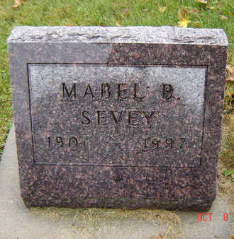 SEVEY, MABEL BERTHA - Delaware County, Iowa | MABEL BERTHA SEVEY