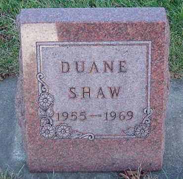 SHAW, DUANE - Delaware County, Iowa | DUANE SHAW