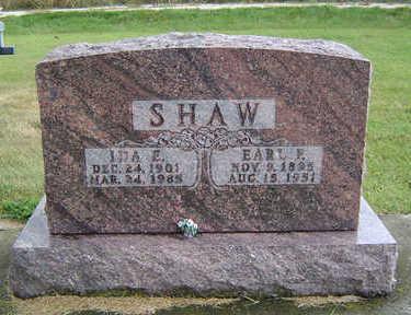 FRITZ SHAW, IDA EMMA - Delaware County, Iowa | IDA EMMA FRITZ SHAW