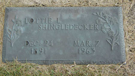 CHENEY SHINGLEDECKER, LOTTIE LOVINA - Delaware County, Iowa | LOTTIE LOVINA CHENEY SHINGLEDECKER