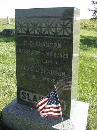 SLAUSON, FREDERICK DOUGLAS - Delaware County, Iowa | FREDERICK DOUGLAS SLAUSON