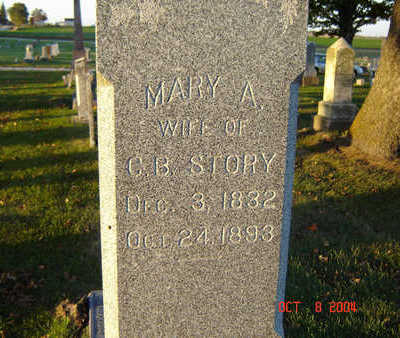 HOWARD STORY, MARY A. - Delaware County, Iowa | MARY A. HOWARD STORY