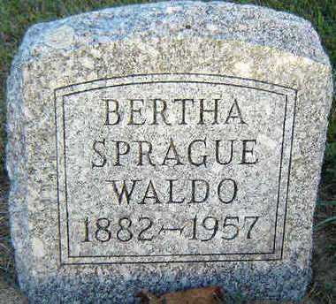 WALDO, BERTHA - Delaware County, Iowa | BERTHA WALDO