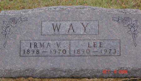 WAY, IRMA V. - Delaware County, Iowa | IRMA V. WAY