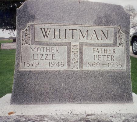 WHITMAN, LIZZIE - Delaware County, Iowa | LIZZIE WHITMAN