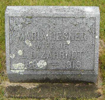 HESNER ZAHRNDT, MARIA - Delaware County, Iowa | MARIA HESNER ZAHRNDT
