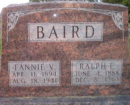 BAIRD, FANNIE V. - Des Moines County, Iowa | FANNIE V. BAIRD