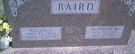 BAIRD, RODMAN W. - Des Moines County, Iowa | RODMAN W. BAIRD