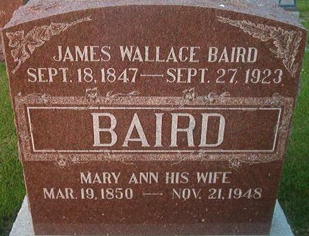 BAIRD, MARY ANN - Des Moines County, Iowa | MARY ANN BAIRD