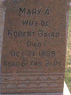 BAIRD, MARY A. - Des Moines County, Iowa | MARY A. BAIRD