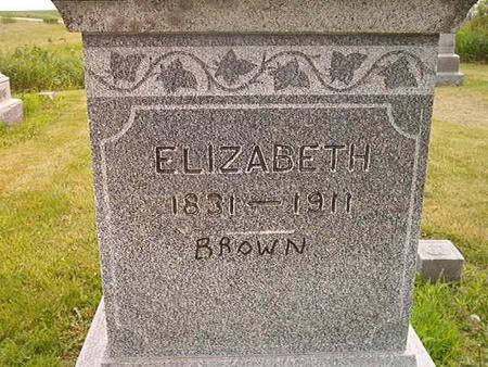 BROWN, ELIZABETH - Des Moines County, Iowa | ELIZABETH BROWN
