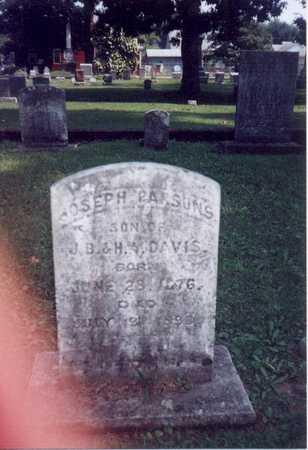 DAVIS, JOSEPH PARSONS - Des Moines County, Iowa | JOSEPH PARSONS DAVIS