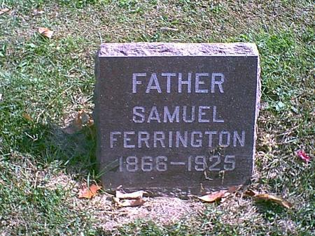 FERRINGTON, SAMUEL E. - Des Moines County, Iowa | SAMUEL E. FERRINGTON