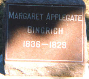APPLEGATE GINGRICH, MARGARET A. - Des Moines County, Iowa | MARGARET A. APPLEGATE GINGRICH