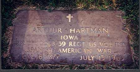HARTMAN, ARTHUR - Des Moines County, Iowa | ARTHUR HARTMAN