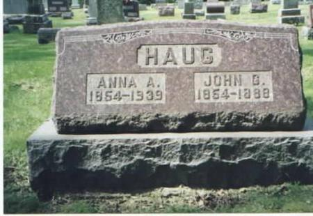HAUG, ANNA A. AND JOHN G. - Des Moines County, Iowa | ANNA A. AND JOHN G. HAUG