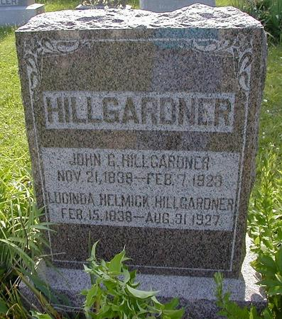 HELMICK HILLGARDNER, LUCINDA - Des Moines County, Iowa | LUCINDA HELMICK HILLGARDNER