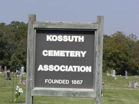 KOSSUTH, CEMETERY - Des Moines County, Iowa | CEMETERY KOSSUTH