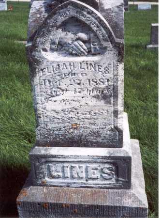 LINE, ELIJAH - Des Moines County, Iowa | ELIJAH LINE