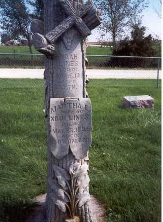 LINES, MARTHA E. - Des Moines County, Iowa | MARTHA E. LINES