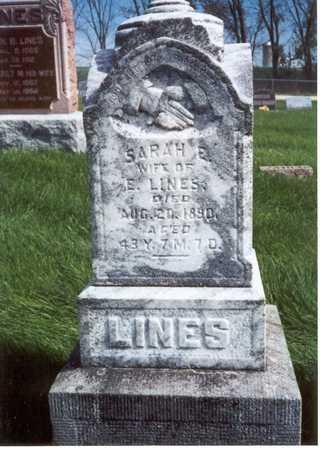 LINES, SARAH E. - Des Moines County, Iowa | SARAH E. LINES