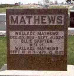 MATHEWS, WALLACE EDDIE - Des Moines County, Iowa | WALLACE EDDIE MATHEWS