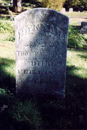 BULLCOCK PARSONS, HANNAH - Des Moines County, Iowa | HANNAH BULLCOCK PARSONS