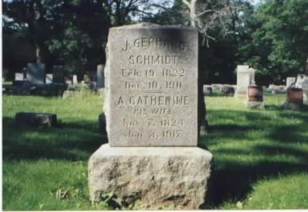 SCHMIDT, J. GERHARD AND A. CATHERINE - Des Moines County, Iowa | J. GERHARD AND A. CATHERINE SCHMIDT