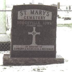 ST. MARY'S (DODGEVILLE), CEMETERY - Des Moines County, Iowa | CEMETERY ST. MARY'S (DODGEVILLE)