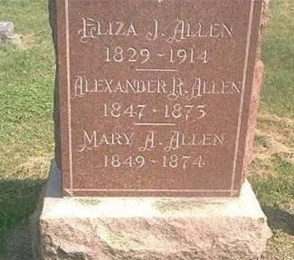 ALLEN, ELIZABETH, ALEXANDER & MARY - Des Moines County, Iowa | ELIZABETH, ALEXANDER & MARY ALLEN