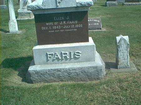 FARIS, ELIZABETH - Des Moines County, Iowa | ELIZABETH FARIS