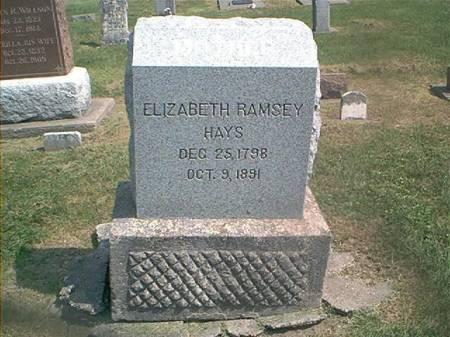 HAYS, ELIZABETH RAMSEY - Des Moines County, Iowa | ELIZABETH RAMSEY HAYS