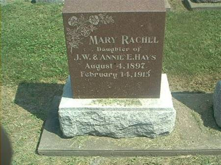 HAYS, MARY RACHEL - Des Moines County, Iowa | MARY RACHEL HAYS