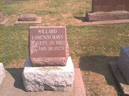 HAYS, WILLARD - Des Moines County, Iowa | WILLARD HAYS