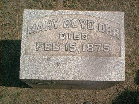 ORR, MARY BOYD - Des Moines County, Iowa | MARY BOYD ORR