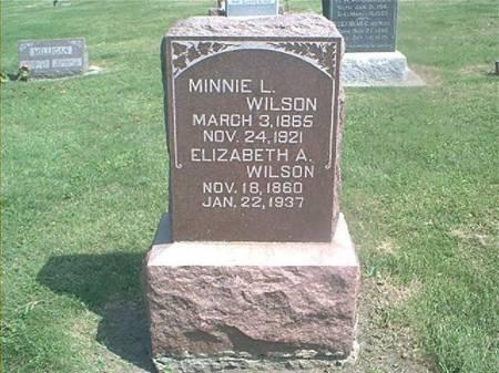 WILSON, MINNIE & ELIZABETH - Des Moines County, Iowa | MINNIE & ELIZABETH WILSON