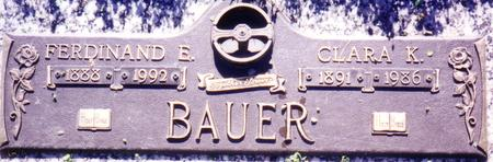 CLAUSEN BAUER, CLARA K. - Dickinson County, Iowa | CLARA K. CLAUSEN BAUER