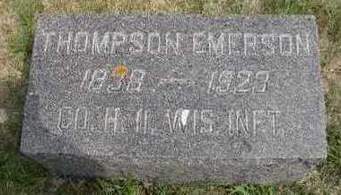EMERSON, THOMPSON - Dickinson County, Iowa | THOMPSON EMERSON