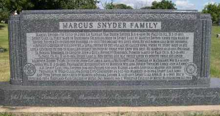 SNYDER, MARCUS - Dickinson County, Iowa | MARCUS SNYDER