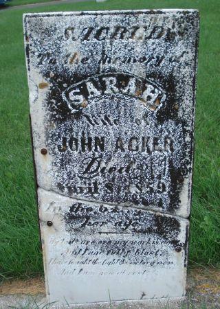 ACKER, SARAH - Dubuque County, Iowa   SARAH ACKER