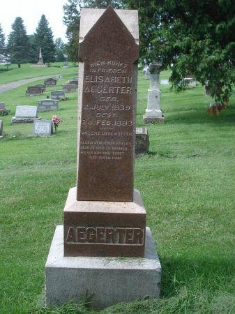 AEGERTER, ELISABETH - Dubuque County, Iowa | ELISABETH AEGERTER