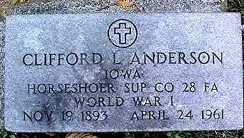ANDERSON, CLIFFORD L. - Dubuque County, Iowa | CLIFFORD L. ANDERSON