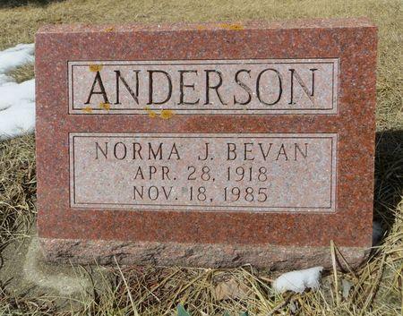 BEVAN ANDERSON, NORMA J. - Dubuque County, Iowa   NORMA J. BEVAN ANDERSON