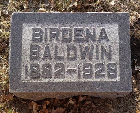 BALDWIN, BIRDENA - Dubuque County, Iowa | BIRDENA BALDWIN