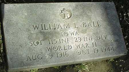 BALL, WILLIAM L. - Dubuque County, Iowa | WILLIAM L. BALL