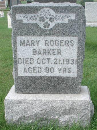 ROGERS BARKER, MARY - Dubuque County, Iowa | MARY ROGERS BARKER
