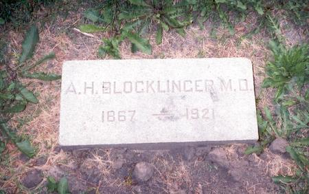 BLOCKLINGER, M.D., ALBERT H. - Dubuque County, Iowa | ALBERT H. BLOCKLINGER, M.D.